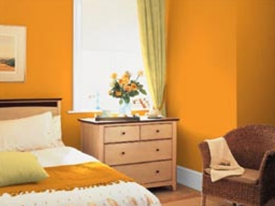 El color naranja en la decoración