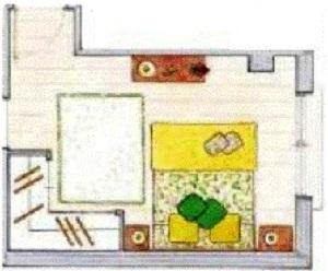 Distribuir muebles en dormitorio pequeño