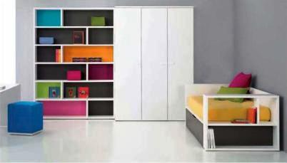 Dormitorio esencial y dinámico
