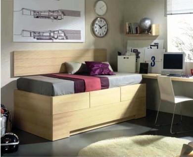 Dormitorio versátil con cama nido