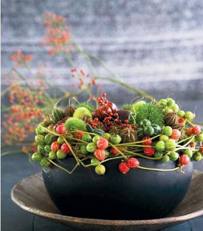 Flores exóticas en centros de mesa