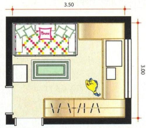 Plano - Dormitorio de nena