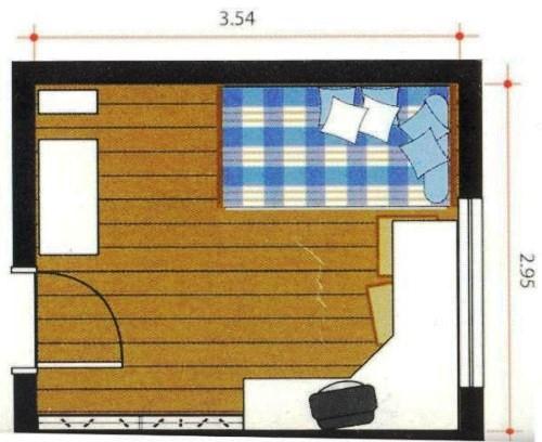 Plano dormitorio de varones