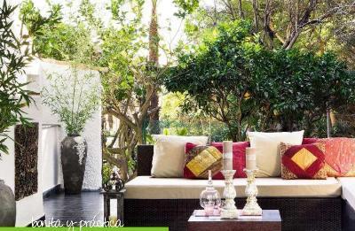 Terraza bonita y práctica
