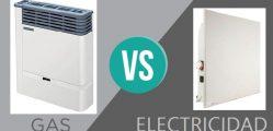 Calefacción a gas o electricidad
