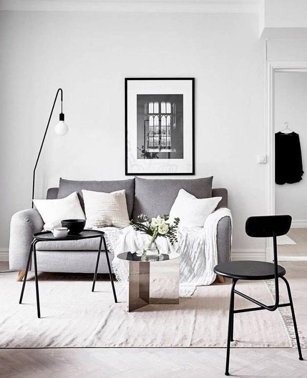 Living minimalista para un espacio pequeño