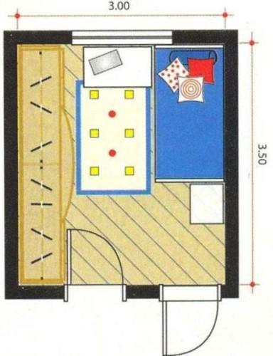 Plano - Dormitorio infantil de Superhéroes